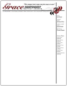GIBC   Letterhead Print Design Type: Letterhead Designed For: Grace Ind.  Baptist Church Of Ocean Springs, MS